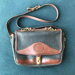 Two Tone Leather Cross Body Bag